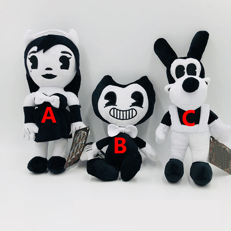 Bandy & Ink Maker Doll Bendy Thriller Game Plush Doll Halloween Doll Stuffed Animal Toys Childrens Kids Halloween Gifts