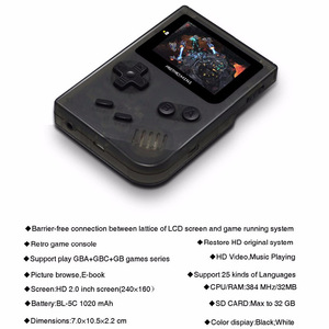 Image 3 - Coolbaby レトロゲームコンソールのための 32 ビットポータブルミニ携帯型ゲーム機内蔵 169 Gba クラシックゲームためのギフトのおもちゃ子供
