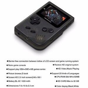 Image 3 - Coolbaby Retro Trò Chơi Giao Diện Điều Khiển 32 Bit Xách Tay Mini Chơi Game Cầm Tay Được Xây Dựng Trong 169 Cho GBA Trò Chơi Cổ Điển Quà Tặng Đồ Chơi Cho trẻ em