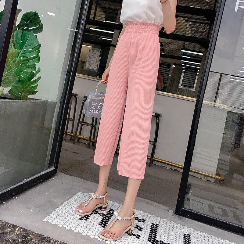 Pantalon Mujer Hot Sale Mid Women 2019 Make Spot Big Yards Dress New Chiffon Wide-legged Pants Casual 200 Catties A Undertakes