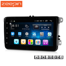 hot deal buy zeepin 8001 android 6.0 car multimedia player for vw mirror link 2 din car radio player wifi gps navigation steering-wheel
