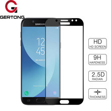 GerTong Full Cover Tempered Glass For Samsung Galaxy J3 J5 J7 2017 J330 J530 J730 EU Eurasian Version Screen Protector Blue Film(China)
