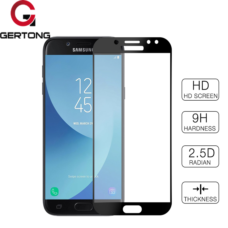 GerTong полное покрытие закаленное Стекло для Samsung Galaxy J3 J5 J7 2017 J330 j530 j730 ЕС Евразийского версия Экран протектор синий Плёнки ...
