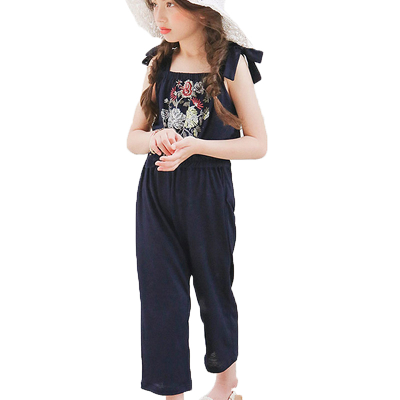 Summer 2018 baby girls overalls pants fashion children clothing toddler teens jumpsuits child cute ruffle romper kids clothes