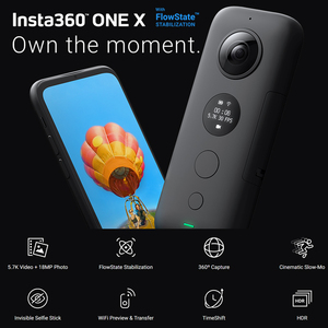 Image 2 - Insta360 ONE X Camera 5.7K video 18MP photo Control Time and Perspective Edit on The Fly compatible with Insta 360 ONE X app