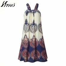 2017 Fashion HIRO Halter Women Print Vintage Chiffon Sex Dress Vestidos De  Festa Beach Summer Casual c1e62d4655cc