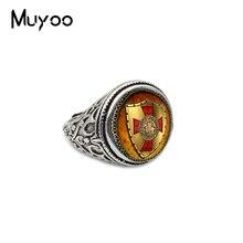 Новые винтажные кольца тамплиеров, регулируемые кольца средневекового рыцарства, ручные кольца ремесленного производства, подарки для мужчин