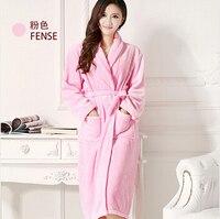 Autumn and winter robe women's robes flannel bathrobe lovers coral fleece wool flannel sleepwear male bathrobe