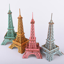 Mini DIY 3D Mode Eiffel tower puzzle Toys wooden toy Wood Puzzles Education Toy Model Building Wooden 3D Puzzle for Kids wooden 3d building model toy gift wood puzzle hand work assemble game woodcraft construction shaolin temple kungfu monastery 1pc