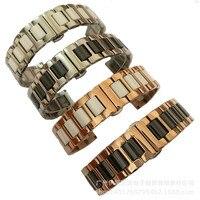 14mm 16mm 18mm 20mm 22mm Stainless Steel Ceramic Rose Gold Bracelet Bracelet Strap Wrist Strap Butterfly