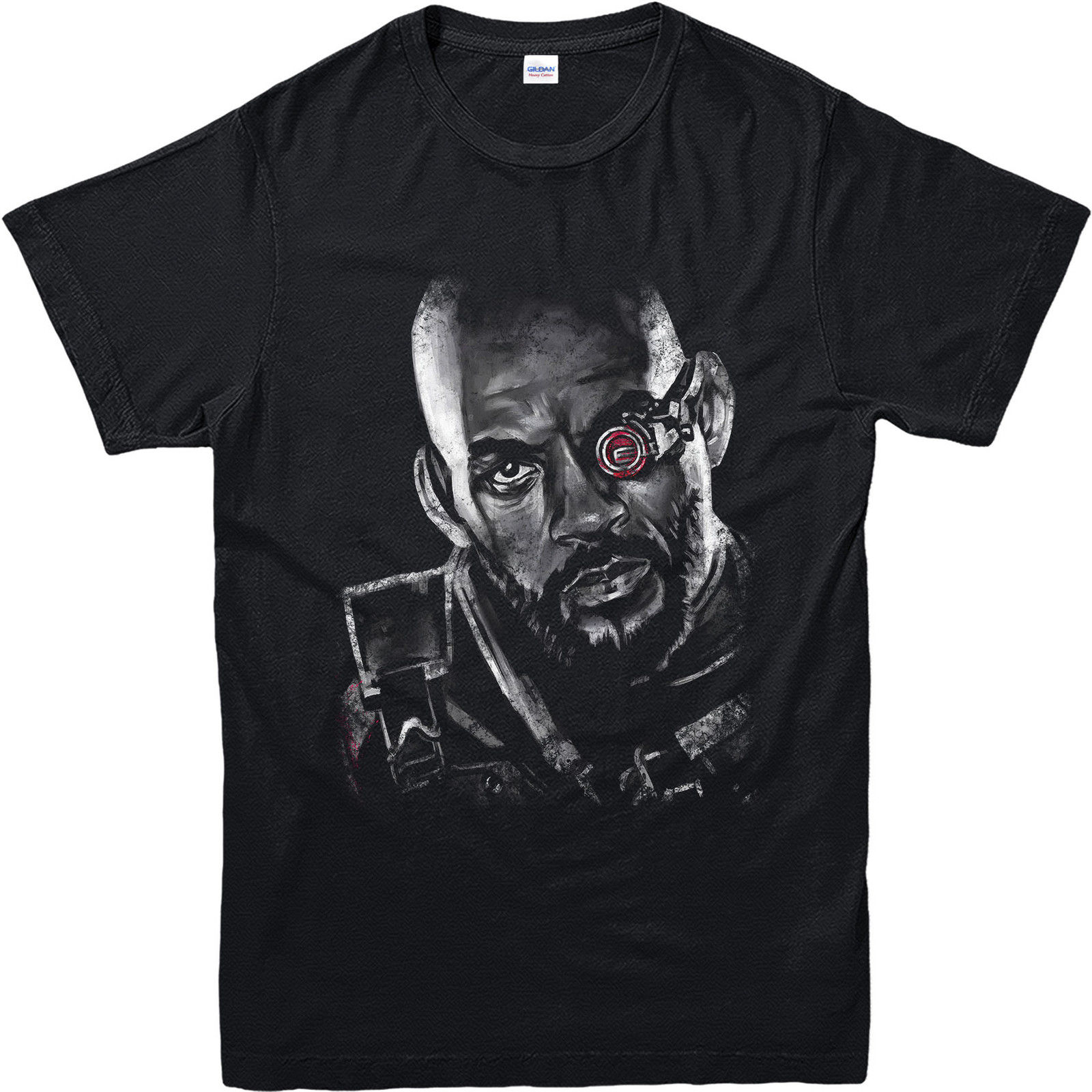 dswsf Original Deadshot T-shirt Will Smith Face fashion Summer Top Tee Numerous In Variety Inspired Design Top