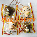 squishies wholesale 20pcs squishy lot kawaii RARE hamburger rilakkuma squishy charm aoyama tokyo japan kids toy free shipping