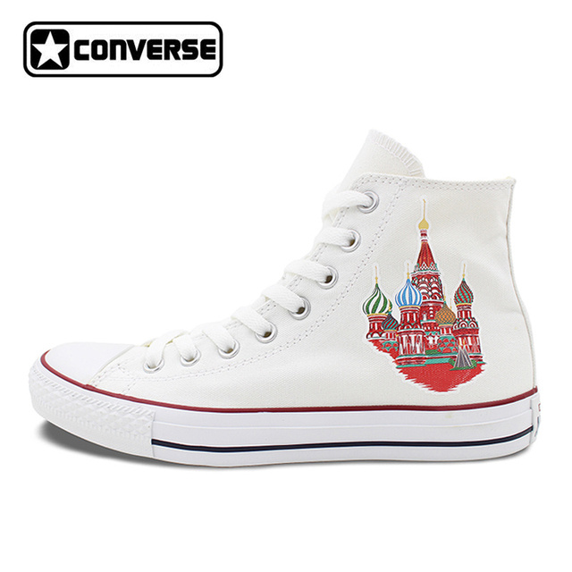 Converse All Star High Top Shoes for Men Women Colored Russia Saint Basil's  Cathedral Canvas Sneakers
