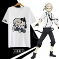 Bungou Bungo Stray Dogs T-shirt Japan Anime Nakajima Atsushi Cosplay T Shirts Fashion Cotton Short Sleeve Tees Men Women
