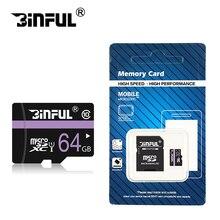 Binful современный стиль карты памяти 8 ГБ 4 ГБ микро SD карты фиолетовый карты памяти 16 ГБ 32 ГБ Memory Stick для мобильный телефон с SDHC/SDXC подарок