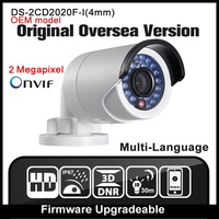 HIK DS 2CD2020F I 4mm English Version IP Camera 4 0MP Bullet Security Camera With POE