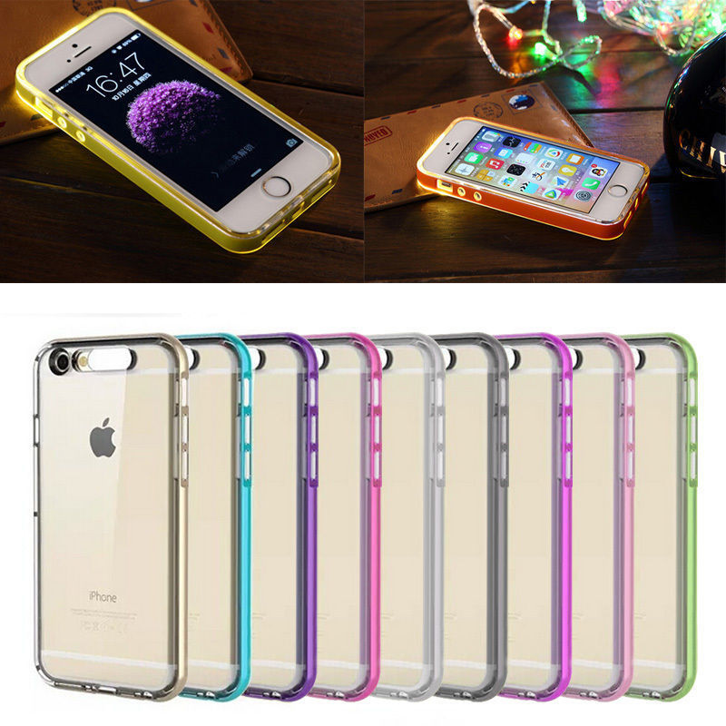 new concept 6f31f 8d672 US $2.62 |iClever TPU Phone Case For iPhone 7/7Plus Bumper Frame Flash UP  Light Incoming Call LED -in Fitted Cases from Cellphones & ...