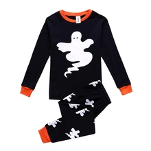 Cute Ghost Printed Soft Cotton Baby Boy's Pajamas