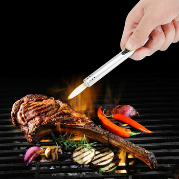 Outdoor Metal torch lighter Barbecue Charcoal Gas Cooker Stove lighter Kitchen Igniter Gun Lighter butane torch soplete cocina 4