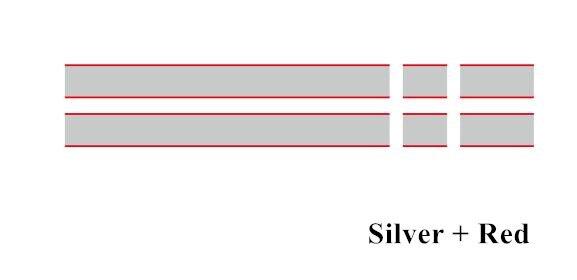 Автомобильный капот крышка двигателя виниловая наклейка авто задний багажник линии наклейки на капот Спорт полоса для Mini Coopers F54 F55 F56 R56 R57 R58 - Название цвета: Silver-red
