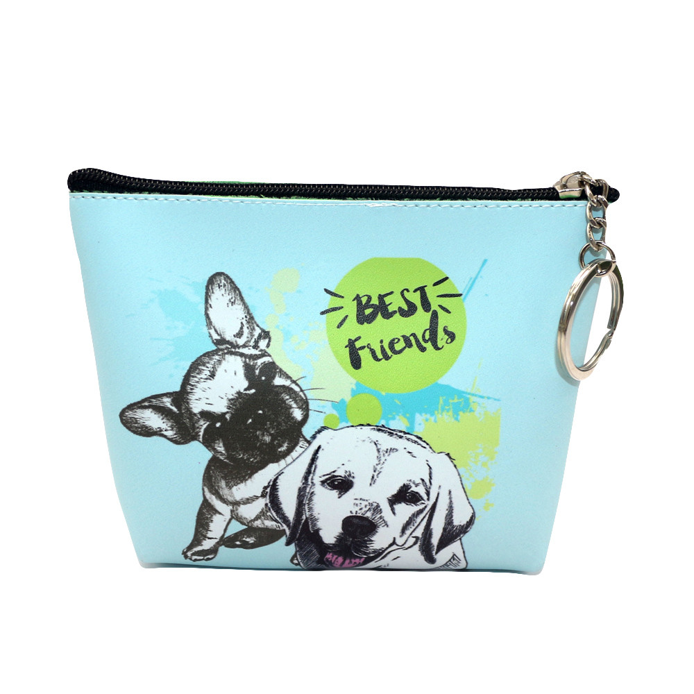 Bags For Women 2019  Girls Printing Dog Snacks Coin Purse Wallet Bag Change Pouch Key Holder Coin Purse PU Leather#15