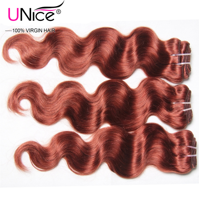 Unice Hair Color 33 Peruvian Virgin Hair Body Wave 6a Top Peruvian