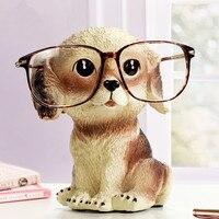 Dog Glasses Stand Resin Crafts Lovely Eyeglasses Sunglasses Stand Holder Rack Animal Home Decor Creative Xmas
