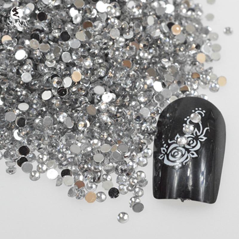Nail Salon 1000pcs 3mm Nail Rhinestones Nails Art Glitter