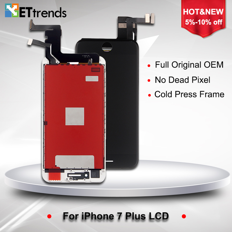 1 Piece Original NEW AA LCD Display for iPhone 7 plus LCD Screen Digitizer Touch Glass Screen Assembly Replacement DHL Free Ship