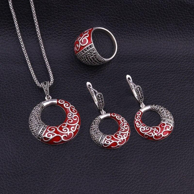Feelgood Antik Gümüş Rəngli Zinət əşyaları Yeni Moda Qara - Moda zərgərlik - Fotoqrafiya 3