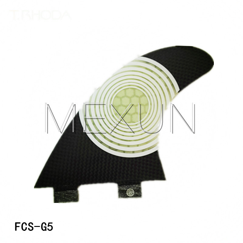ФОТО free shipping 3 pcs black FCS G5 112*117MM surf fins honey comb surfboard fins High quality Carbon fiberglass Skimboard fins