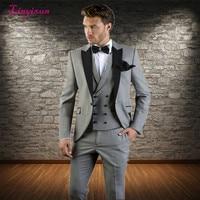 Linyixun Mens Suits Terno Masculino Kingsman Costume Homme Classic Suit for Men Wedding Slim Fit Suit Mens Tuxedo 3 Piece Suit