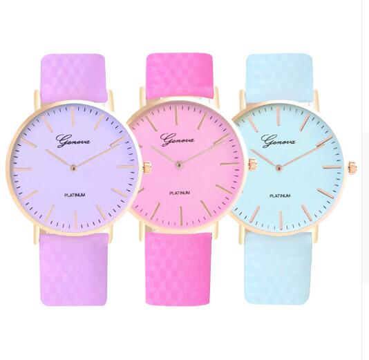 Women Watches Color Change Crystal Leather Quartz Wristwatch Fashion Dress Watch Ladies Gifts Clock Relogio Feminino 3 Color