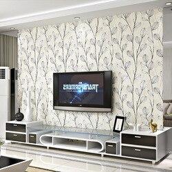 Weiß Blatt wand papier 3d beflockung für TV Hintergrund Moderne Mode Grau Nicht-woven Tapeten Für Wohnzimmer Schlafzimmer decor