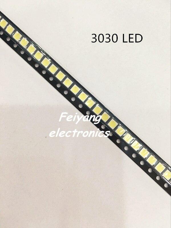 100pcs Lextar LED Backlight High Power LED 1.8W 3030 6V Cool white 150-187LM PT30W45 V1 TV Application 3030 smd led diode