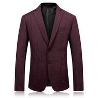 2017 autunno uomini di modo casuale red blazer cappotti da uomo giacca classics affari di lana giacca uomo vestito full size M-3XL
