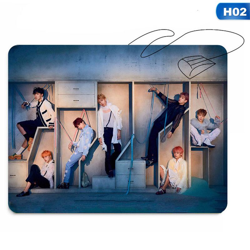 Mouse & Keyboards Top Selling K-pop Bts Love Yourself Answer Rubber Mouse Pad Lovely Bangtan Boys Mat 26*21cm Christmas Halloween Gift Computer & Office