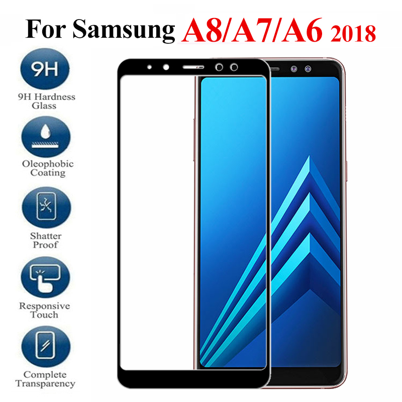 Protective Glass On For <font><b>Samsung</b></font> Galaxy A7 <font><b>2018</b></font> A750 A730 A6 A8 plus Screen Protector Tempered Glass on sumsung a 6 7 8 <font><b>750</b></font> glass image