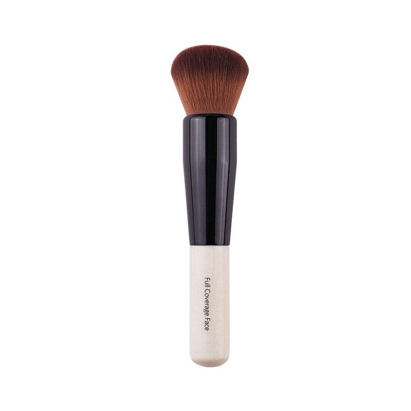 Pó de Maquiagem Escova Redonda de Cerdas Punho de Madeira Densa Suave Cobertura Completa Pó Facial Brushes Blush Contour Brush Make up Ferramenta