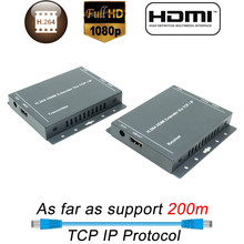 ¡Novedad de 2019! Extensor Ethernet HDMI H.264 de 200m, Extensor RJ45 sobre IP, TCP, LAN, red HDMI, Cat5, Cat5e, Cat6, UTP/STP, HDMI(China)