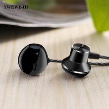 YWEWBJH Stereo Bass Headphones Earphone For Phone In-Ear Wired Metal Mic Samsung F12