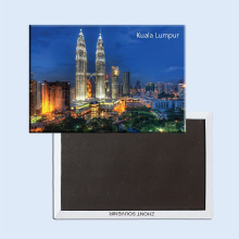 Free Shipping Over $12, Malaysia Kuala Lumpur City Twin Towers Scenery Tourist Rectangle 3*2 Metal Fridge Magnet 5379