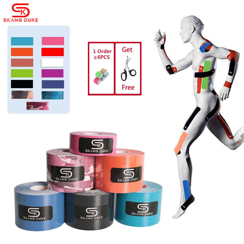 2 Size 5M Length Elastic Sport Tape Kinesiology Tape Athletic Strapping Gym Tennis Fitness Running Knee Muscle Pain Care