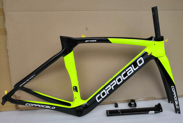 fluo yellow 2019 Carbon Road Bike Frame 47 50 53 55 57cm P03 glossy Carbon Frame