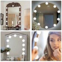 Косметическое зеркало, косметический светодиодный светильник, лампочка, комплект, usb порт для зарядки, косметический светильник, ed зеркала для макияжа, лампа, регулируемая яркость, светильник s