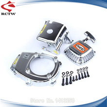 chrome flywheel cover and cylinder cover and pull starter kits for 1/5 hpi baja engines parts