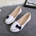 women cute small bow tie flat shoes fashion lady white office work slip on shoes spring and summer female shoes flats