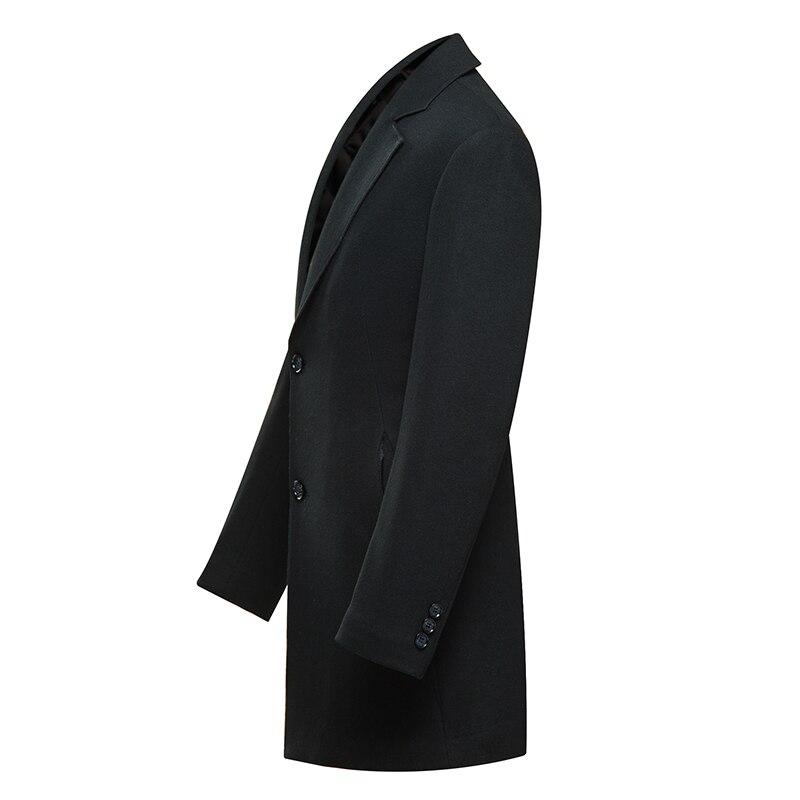 D'hiver D'affaires Tranchée Unique Masculino Slim Mens Black Décontractée Vestes Hommes Laine Manteau Aismz Longue Pardessus Épais Casaco Poitrine Az1805 Chaud OkXiuPwTZ