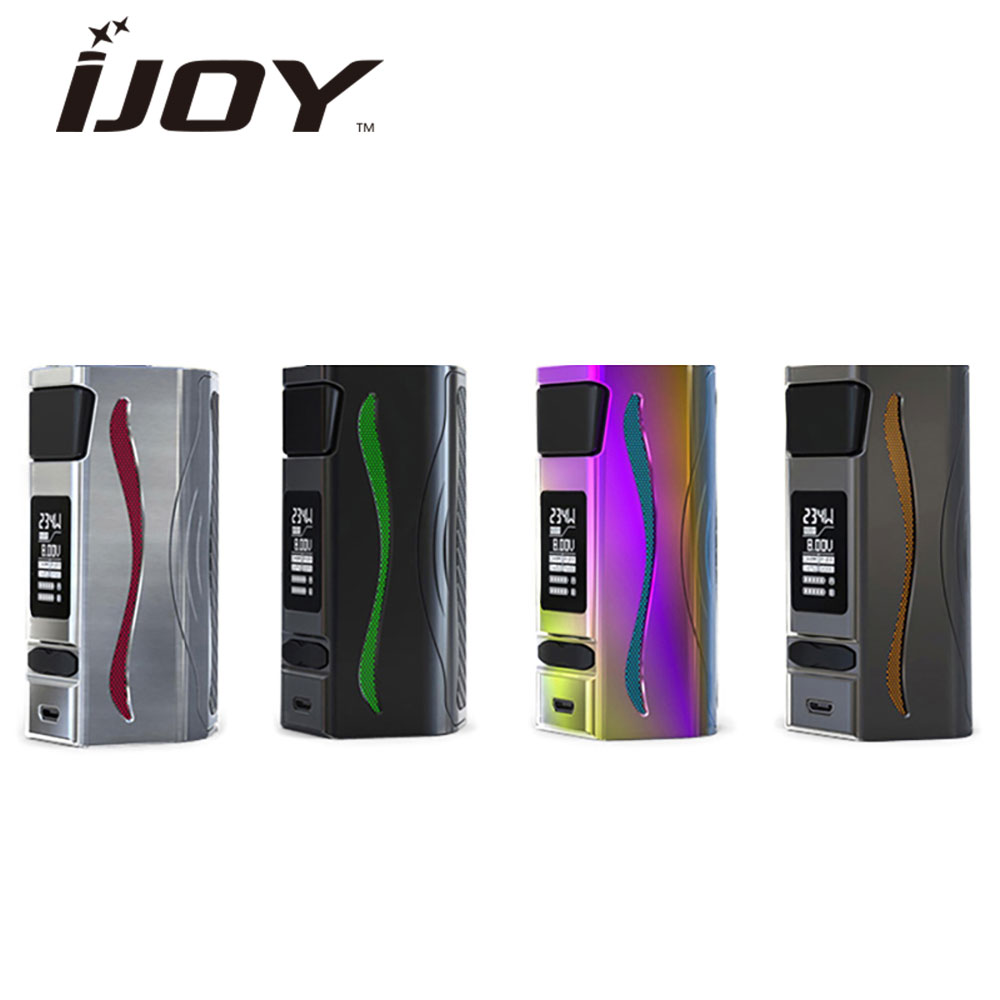 Original 234W IJOY GENIE PD270 TC BOX MOD Dual 20700 Battery 6000mA Battery RGB backlight fit 30mm Atomizer GENIE PD270 MOD original ijoy genie pd270 box mod vape ni ti ss 234w with dual 20700 battery ddopt iwepel tc chipset rgb backlight