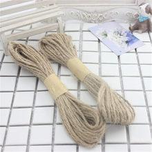 1.5mm multicolor can choose Jute Twine Cord /Hemp Rope 10m/lot